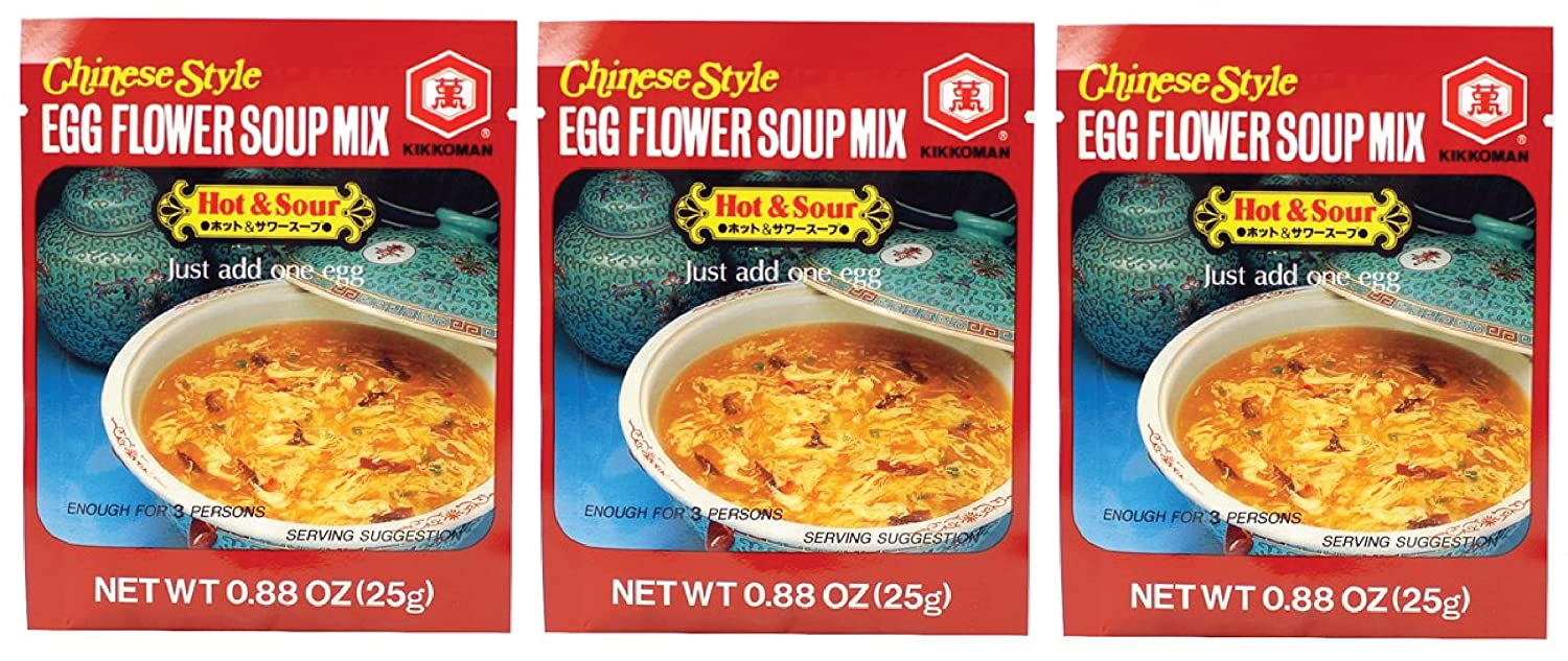 Kikkoman Animer and price revision Soup Year-end gift Egg HotSour Flower