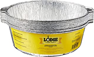 Lodge A12F12 12-Inch Aluminum Foil Dutch Oven Liners, 12-Pack, Silver