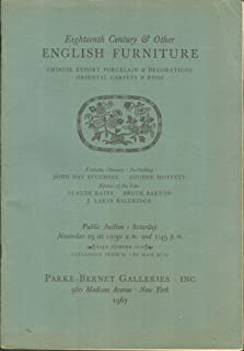 Eighteenth Century & Other English Furniture, A Group of Chinese Export Porcelain, Including Tea Caddies, Dinner Services & Other Table-Ware, Bracket Clocks, Mirrors, Oriental Carpets and Rugs...: November 25, 1967 (Sale Number 2624)