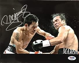 MANNY PACQUIAO Signed Autographed Boxing 8 x 10 Photo vs Juan Manuel Marquez PSA/DNA COA