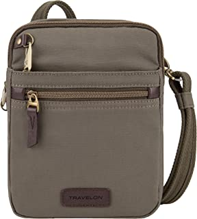 Travelon: Anti-Theft Courier Small N/s Slim Travel Bag - Stone Gray