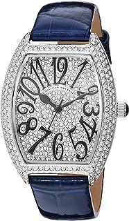 Christian Van Sant Women's Elegant Quartz Watch with Leather Strap, Blue, 15 (Model: CV4821)