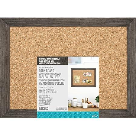 Dooley Vinyl Framed Cork Board 11 x 17 Inches 1 Board 1117COV