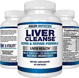 Liver Cleanse Detox & Repair Formula – 22 Herbs Support Supplement: Milk Thistle..
