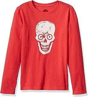 Life is Good B Long Sleeve Boys Tee Bike Skull Lig Amrred T-Shirt,