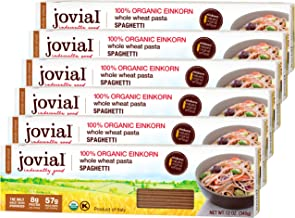 Jovial Spaghetti Einkorn Pasta | Organic Whole Grain Spaghetti | Non-GMO | High Protein | Lower Carb | USDA Certified Orga...