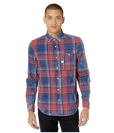 G-Star Bristum One-Pocket Slim Shirt (Indigo/Antic Red Check) Men