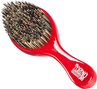 Torino Pro Wave Brush #470 by Brush King - Extra Hard Curve Wave Brush with Reinforced Boar & Nylon Bristles - Great for W...