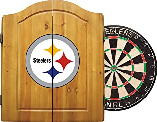steelers dart board cabinet