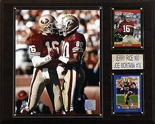 NFL Montana-Rice San Francisco 49ers Player Plaque