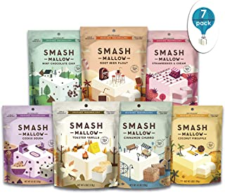 Mallow Out Variety Pack By SMASHMALLOW | Snackable Marshmallows | Non-GMO | Organic Cane Sugar | Pack of 7 (4.5 Ounces per Pack)