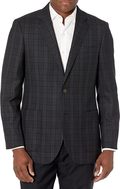 Amazon Brand - Buttoned Down Men's Classic Fit Italian Wool Plaid Sport Coat