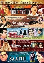 5 Love Golden Classic Movies Heer Ranjha, Laila Majnu, Mere Mehboob, Umrao Jaan, Saathi
