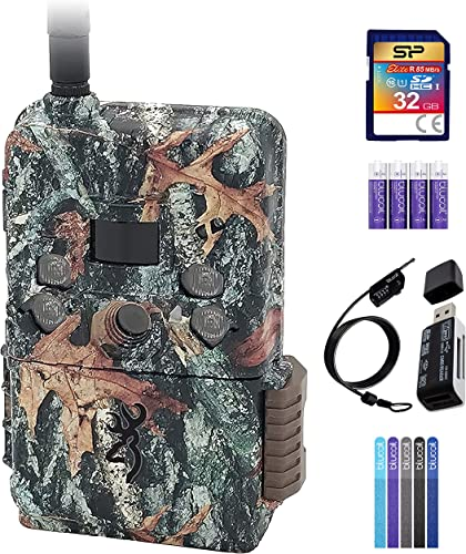 discount Browning BTC-DWPS-VZW Defender Pro Scout Cellular Trail Camera for Verizon Bundle with Silicon Power outlet sale 32GB SDHC Card, Blucoil 4 AA Batteries, 6.5' Cable Lock, high quality 5X Cable Ties, and VidPro USB Card Reader online