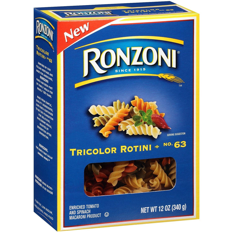 Ronzoni sale Tricolor Rotini Non GMO Of 3. Max 70% OFF 12 Oz. Pack