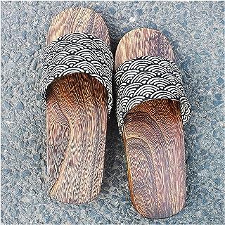 ZCPCS Alquiler de Zapatillas de Madera de Hombre japonés Masculino. (Color : 04, Size : 40-41)
