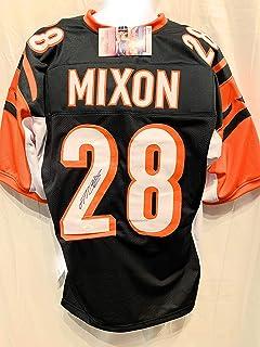 Joe Mixon Cincinnati Bengals Signed Autograph Black Custom Jersey JSA Witnessed Certified
