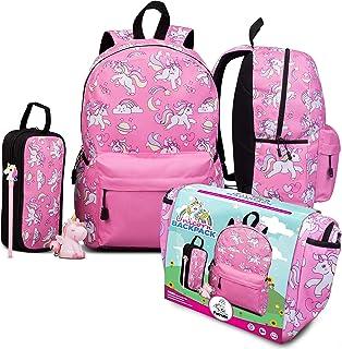 حقيبة ظهر للبنات والأولاد - حقائب ظهر باللون الأزرق أو الوردي أو الأرجواني