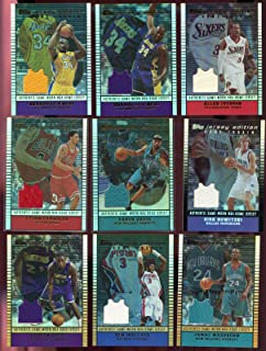 2002-03 Topps Jersey Edition Baron Davis Hornets ROAD Game-Used Game-Worn Card