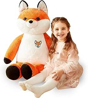 IKASA 78cm Giant Fox Stuffed Animal Jumbo Fox Plush Toy