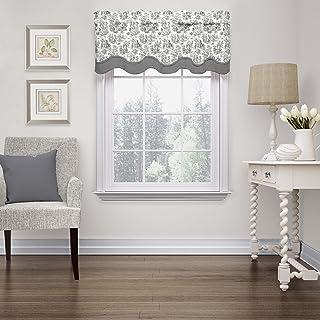 "WAVERLY Valances for Windows - Charmed Life 52"" x 18"" Short Curtain Valance Small Window Curtains Bathroom, Living Room an..."