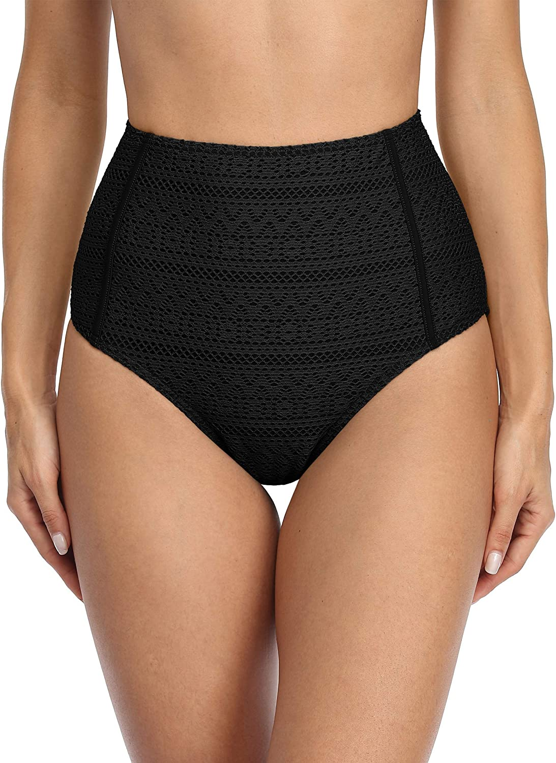 ALove Womens High Waisted Al sold out. Bikini Ruched Bottoms Full lowest price Si Coverage
