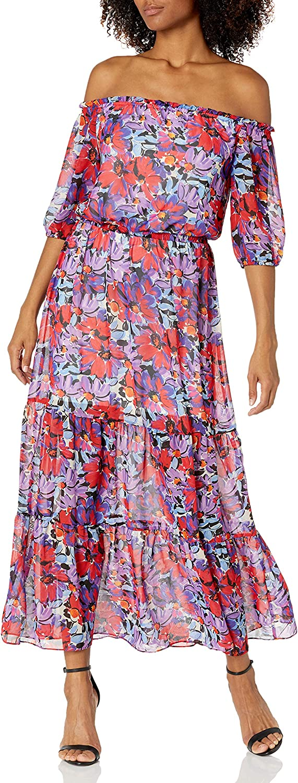 Caribbean Joe Women's Off The Shoulder Dress