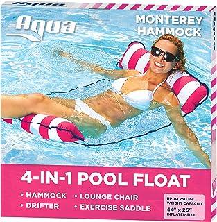 aqua leisure 4-in-1 multi-purpose monterey hammock (saddle, lounge chair, hammock, and drifter),