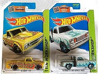 Hot Wheels 2015 Trucks 1967 Chevy C10 & 1970 Dodge Li'l Red Express Truck 2-Car Set