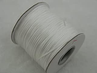 KONMAY 80 Yards 1.0MM Rattail/Bugtail Satin Silk Cord Shamballa Macrame Beading Nylon Kumihimo String (White 800)