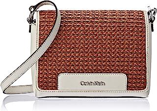 Calvin Klein womens Calvin Klein Clara Stucco Leather Key Item Demi Shoulder Bag