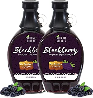 Green Jay Gourmet Blackberry Syrup – 3 Ingredient Premium Breakfast Syrup with..