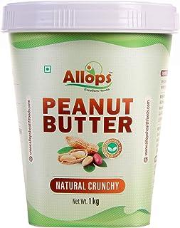 Allops Natural Crunchy Peanut Butter 100% Veg (1 kg)
