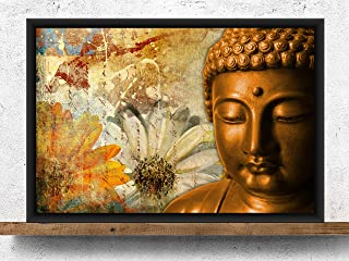 Poylaamo, Buddha Wall Painting with Frame for Living Room, Home Decor, Bedroom, Office. Without Glass. Size 12X18 inches....