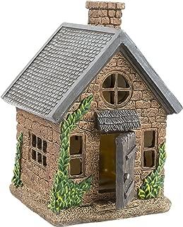 "Yaze Retail Fairy Garden House Kit Miniature - Hand Painted Realistic 7"" Gnome Village Home Opening Door - Mini Figurine Playhouse Collectors - Mini Lawn Accessories Décor Fairies"