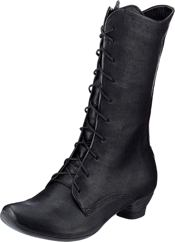 THINK! Women's Aida_3-000070 Mid Calf Boot, 0020 Black, 8