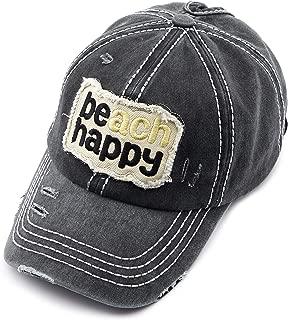 Exclusives Hatsandscarf Washed Distressed Cotton Denim Ponytail Hat Adjustable Baseball Cap (BT-761)
