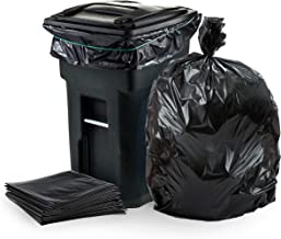 """Plasticplace - W65LDBTL 64-65 Gallon Trash Can Liners for Toter │ 1.5 Mil │ Black Heavy Duty Garbage Bags │ 50"""" x 60"""" (50 ..."""