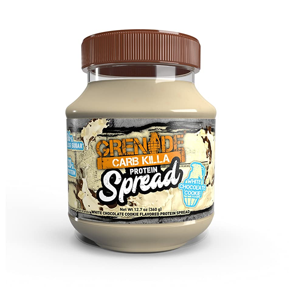 Grenade Carb Killa Protein Chocolate Spread | 7g High Protein Snack | Keto Friendly Low Net Carb Low Sugar | No Stir | White Chocolate Cookie, 12.7oz