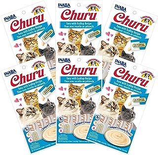 INABA Churu Tuna with Scallop Flavored Recipe 6 Packs, 56 Grams (USA604A)