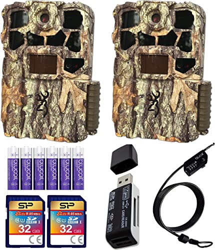 wholesale Browning BTC-7-4K-EDGE Recon Force 4K Edge Trail Cameras (2-Pack) Bundle with 32GB SDHC Memory Cards (2-Pack), Blucoil 6 AA lowest Batteries, 6.5-FT Combination Cable Lock, wholesale and USB 2.0 Card Reader online