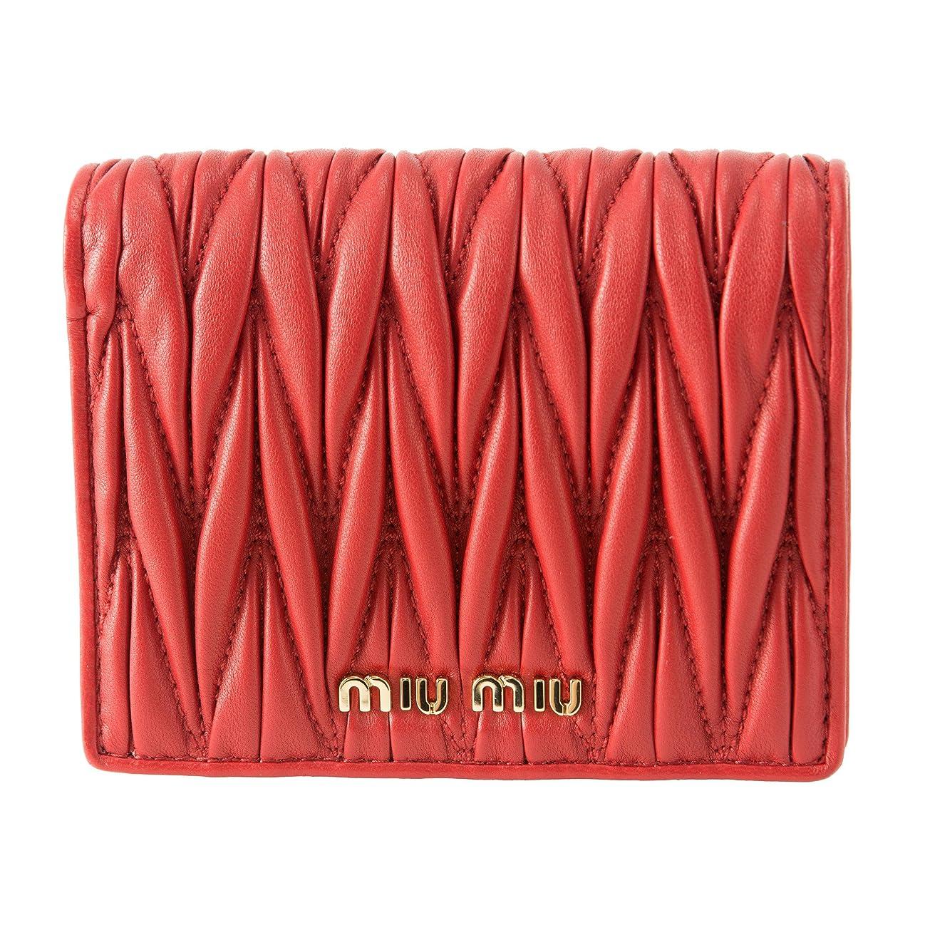 化粧礼儀シャンプーミュウミュウ(MIU MIU) 2つ折り財布 5MV204 N88 F068Z マテラッセ レッド 赤 [並行輸入品]