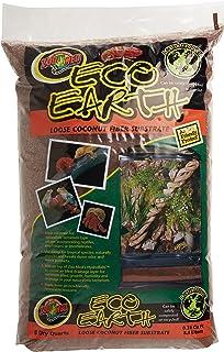 Zoo Med Eco Earth kokosnootbodemsubstraat van 8,8 liter, ter verhoging van de luchtvochtigheid in het terrarium