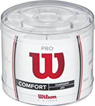 Wilson Unisex Adult Pro Overgrip 60 Pieces Bucket Grips - White, Pack of 60