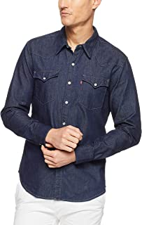Levi's Men's Barstow Western Casual Shirts, Red Cast