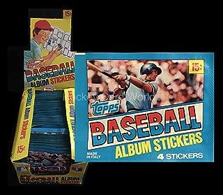 1981 Topps Baseball Album Sticker Sealed Pack - 4 Sticker Pack **RARE**