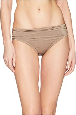 Kenneth Cole Lurex® Solids Shirred Hipster Bikini Bottom