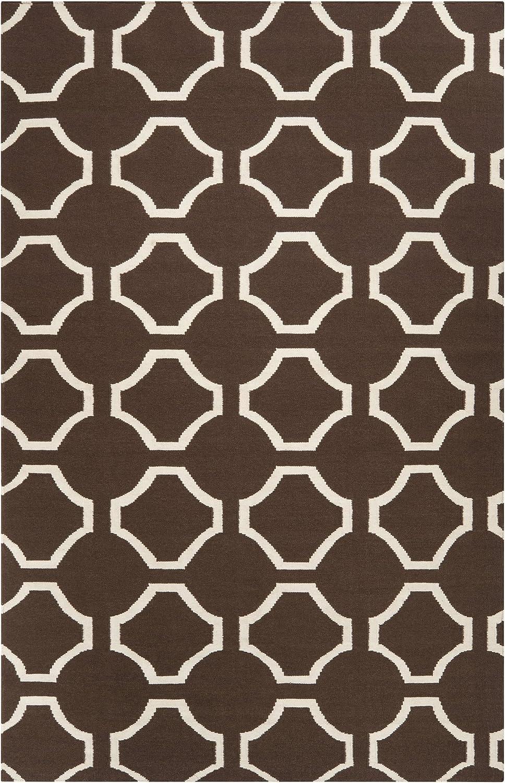 Amazon Com Surya Fallon Fal 1019 Jill Rosenwald Geometric Flat Weave Hand Made Area Rug 2 Feet By 3 Feet Chocolate Furniture Decor