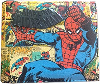 Marvel Comics Spiderman Wallet - Spider-man Bifold Wallet Stacked Comic B, Multi, One Size