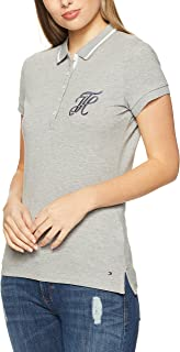 TOMMY HILFIGER Women's New Chiara Heritage Pique Short Sleeve Polo T-Shirt